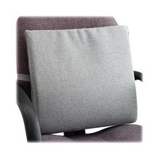 The ComfortMakers Seat Cushion, Ergonomic Back Support, Universal, Self-Adjustable, Office, Car, Airplane, Made in the USA, Washable, Gray (91041)