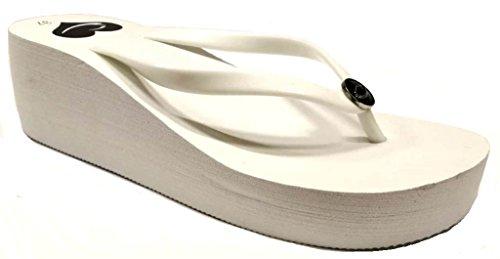 36 Blanco Mujer para dema Sandalias Bianco qp0w6