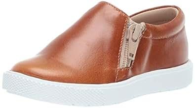 Elephantito Unisex Zipper Slip-On Sneaker, Natural, 1.5 Medium US Little Kid