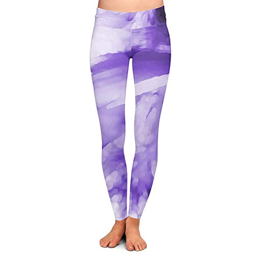 Acquarello Leggings Elastico Pantaloni Giovane Fashion Pants Vita Pencil Skinny Donna Stretch Da Colored Yoga Purple Abstract In XrTrSwq