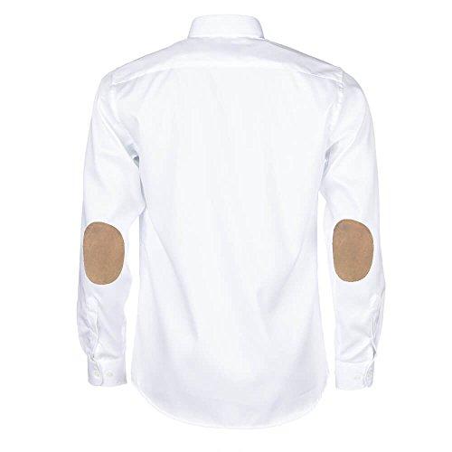 Coudières À Blanche 100 Patchs 40 39 Beige Fit Allbow Regular Homme M Coton Chemise 5BxEqE