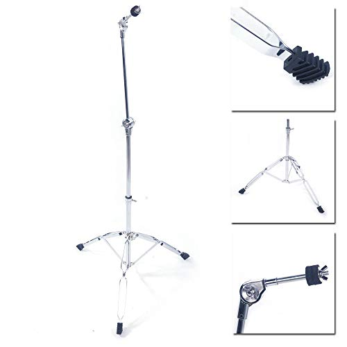- Aromzen New Steel Cymbal Boom Stand Drum Hardware Percussion Holder Mount Silver Color