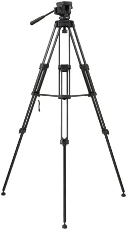 Max Height 59-inches Brace /& Case Supports 6 lbs. Libec TH-650DV Kit with Head Tripod