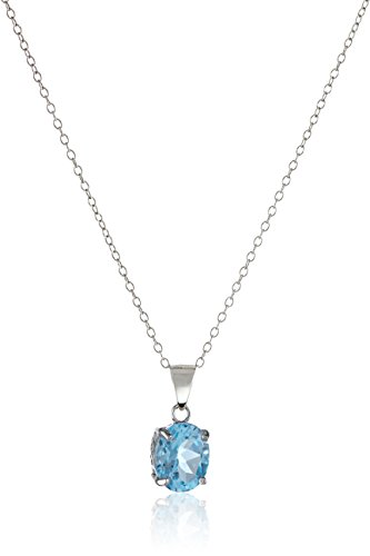 Sterling Silver Gemstone Pendant Necklace product image