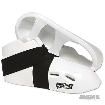 Free ProForce Lightning Kicks Sparring Shoes / Footgear - White - Size 7-7 1/2 | Small