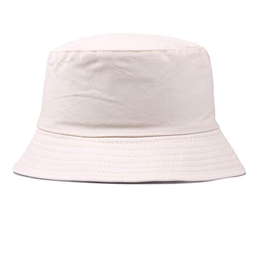 canghai Cotton Adults Bucket Hat Summer Fishing Fisher Beach Festival Sun Cap Reversible Sun Hat Outdoor Hat(KK) ()