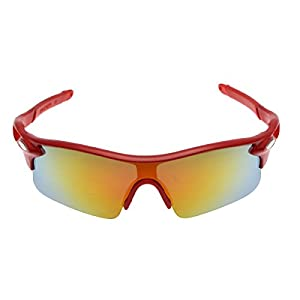 NuVur G018|Men's Outdoors Cycling Sports Half Rimmed Shades Sunglasses Shades|Red