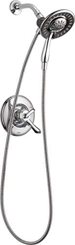 Delta Faucet Linden 17 Series Dual-Function Shower Trim Kit with 2-Spray In2ition 2-in-1 Hand Held Shower Head with Hose, Chrome T17294-I (Valve Not Included) ()