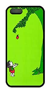 The Giving Tree Customized Rubber Black iphone 5/5s Case By Custom Service Your Perfect Choice