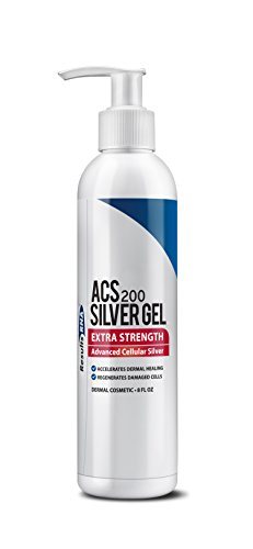 Results RNA ACS 200 Extra Strength | 8 Ounce Silver Gel Bottle - Advanced Cellular Silver Topical Gel For Sunburn, Wounds, Rashes, & Skin Irritations