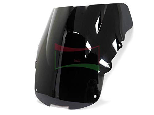 Protek ABS Plastic Injection Black Smoke Double Bubble Transparent Windscreen Windshield Front Visor for 1996 1997 1998 1999 2000 2001 2002 2003 2004 2005 2006 2007 Honda CBR1100XX Blackbird