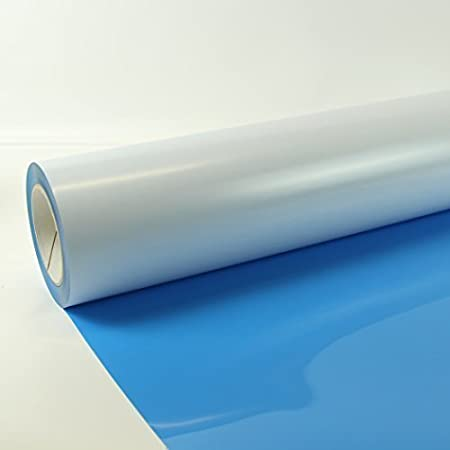 1m x 0,5m Poli-Flex Premium Lámina Flexfolie Hierro-en la película Poli-flex + Gratis Folindo Etiqueta - 403 Claro Blue: Amazon.es: Hogar