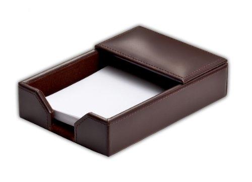 (Dacasso Dark Brown Bonded Leather Memo Holder, 4-Inch by 6-Inch)