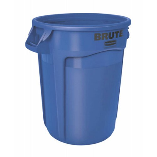 Rubbermaid Commercial Products FG263200BLUE-V Brute Container with Venting Channels, 32 gal, Blue