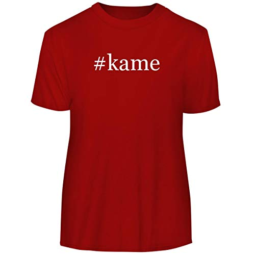 (#Kame - Hashtag Men's Funny Soft Adult Tee T-Shirt, Red, XXX-Large)