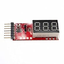 Pakhuis 2S-6S RC helicopter digital voltmeter for lipo batteries