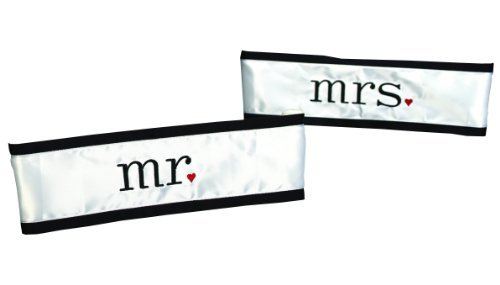 Hortense B. Hewitt Wedding Accessories Together At Last Chair Sashes, Mr. and Mrs., Set of 2 by Hortense B. (Together Mr & Mrs Chair Sashes)