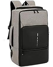 حقيبة ظهر للكمبيوتر المحمول مع شحن USB، أزياء كاجوال للجنسين، مضادة للخدش، مقاومة للماء.