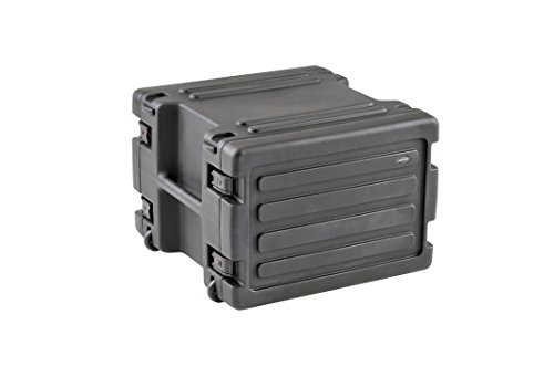 SKB 8U Space Rack with In-line Wheels, TSA Latches, and Handle by SKB