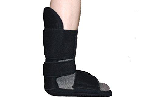 Dorsal-Fußschiene, atmungsaktiv, Schwarz, weiche Fütterung,-hilft bei Senkfuß und Achillessehnenentzündung