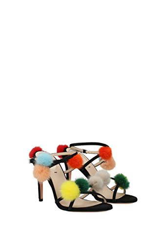 Fendi Sandals Women - Suede (8X660799B) UK Black VGb2Jl