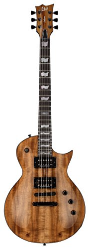 ESP Guitars 6 String ESP EC1000 Koa Ltd Edition Electric Guitar, Natural, (LEC1000KNAT)