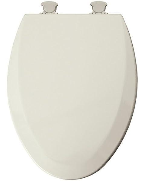 Mayfair Elongated Toilet Seat Beveled Wood Elongated Molded Premium Durable Multi Coat Enamel Bis