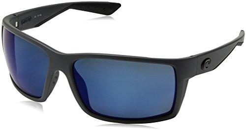 Costa del Mar Men's Reefton Polarized Iridium Rectangular Sunglasses, Matte Gray, 63.7 - Prescription Costa Sunglasses