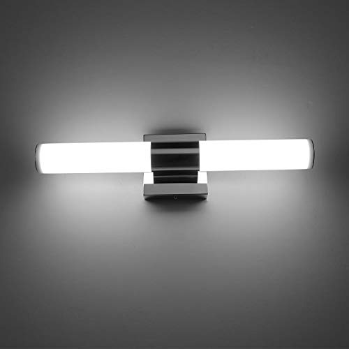 LED Vanity Lights,JoosenHouse Modern Stainless Steel Bathroom Wall Sconce Light Fixtures 560lm Daylight Bath Makeup Mirror Lighting (8W 15.7inch) by Joosenhouse  (Image #8)