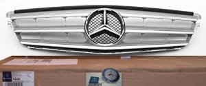 Mercedes-Benz Genuine OEM Factory Sports Grille & Hood Emblem Conversion Kit for 2008 through 2011 C-Class Luxury models