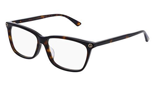 Gucci GG0042OA Eyeglasses 002 Havana-Havana / Clear Lens 55mm (Gucci Glasses Nose Piece)