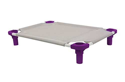 """Mahar Manufacturing 40"""" x 22"""" Pet Cot in Gray with Purple Legs, Unassembled from 4Legs4Pets"""