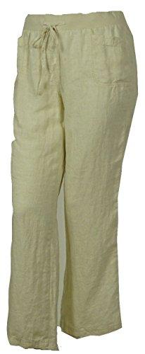 Linen Striped Drawstring Pants - 6
