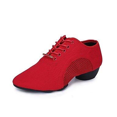 Wuyulunbi@ Donna suola divisa scarpe da ginnastica Outdoor   tacco basso Rosso Nero 1,rosso,noi6.5-7   Eu37   UK4,5-5   CN37