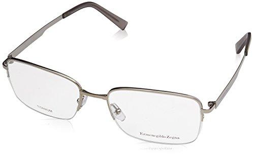 ERMENEGILDO ZEGNA Eyeglasses EZ5025 015 Matte Light Ruthenium