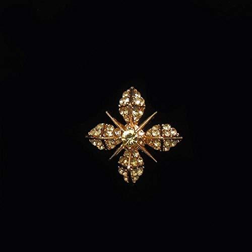 Kaige Elegante Broche de Temperamento Olydmsky Camisa de Hombre y Mujer con Cuello en Forma de Estrella de Diamantes de...