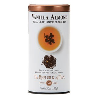 - The Republic Of Tea Vanilla Almond Full-Leaf Black Tea, 3.5 Ounces / 50-60 Cups (Refill Bag)