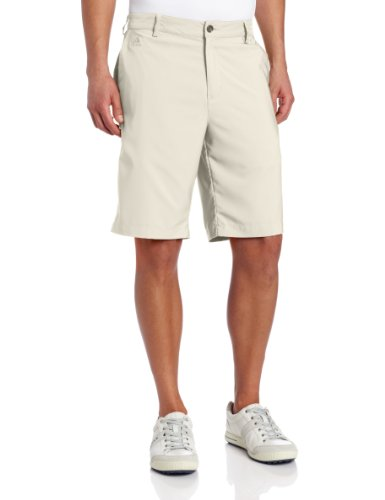 Mens Climacool 3 Stripes (adidas Golf Climalite 3-Stripes Tech Short, Ecru, 30-Inch)