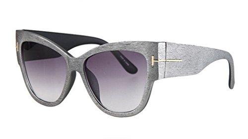 Shade Wood Global (GAMT Attractive Metal Summer Style Lens Sunglasses C1 gray wood grain)