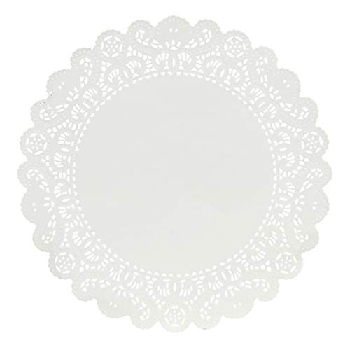 Hygloss Products Round Paper Doilies - Decorative, White Lace Doilies - Disposable - Food Grade Safe - 12 Inches - 36 Pack]()