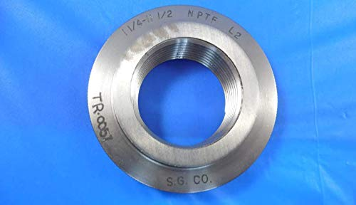 1 1/4 11 1/2 NPTF L2 Pipe Thread Ring GAGE 1.250 11.5 N.P.T.F. L-2 Inspection