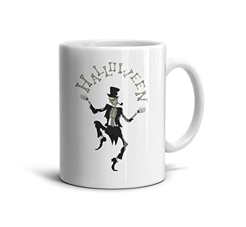 DoorSignHHH Halloween Skeleton Gentleman Simple Coffee Mug Cool
