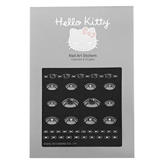 Hello Kitty Nail Art Stickers Classic Icons In Metallic and Half Moon