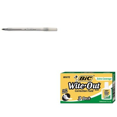 kitbicgsm11bkbicwofec324-value-kit-bic-wite-out-extra-coverage-correction-fluid-bicwofec324-and-bic-