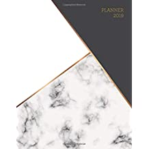 Planner 2019: Weekly Monthly Organizer with Inspirational Quotes | Marble and Gold