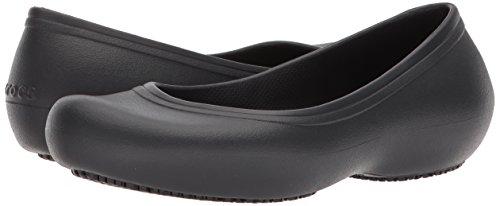 Crocs Women's Work Flat Food Service Shoe, Black, 8 M US by Crocs (Image #6)
