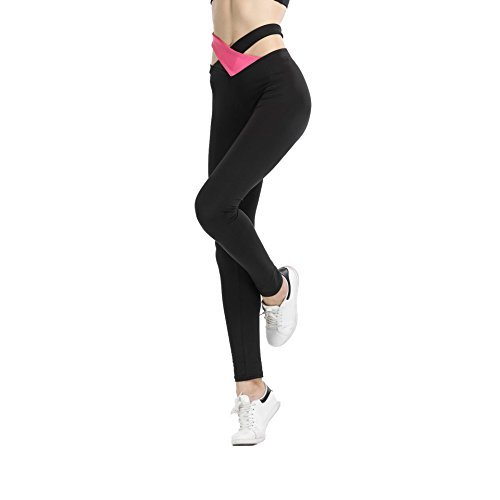 Gymsupply Women\'s Yoga Capri Pants Sport Tights Workout Running Leggings With Side Pocket and Waistband YW3(Medium)