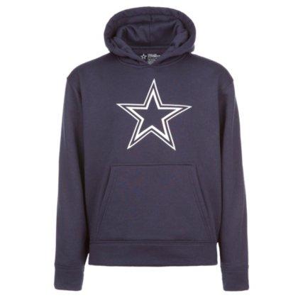 (Dallas Cowboys NFL Youth Boys Logo Premier Hoody, Navy, Medium)