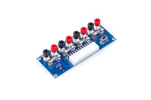 (KNACRO Benchtop Power Board 24 Pin Computer ATX Power Supply Breakout Adapter Module 12V 5V 3.3V )