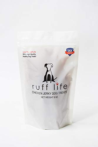 Ruff Life Chicken Jerky Dog Treats 8oz All white meat Chicken Breast Dogs Love